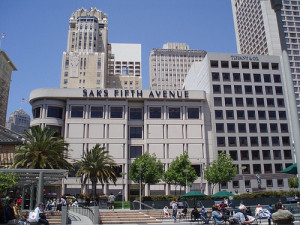 San Francisco shopping Saks Fifth Ave
